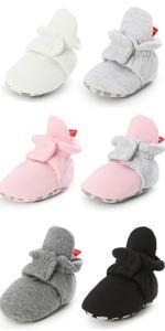 Fleece Baby Booties, Unisex, For Newborns and Infants