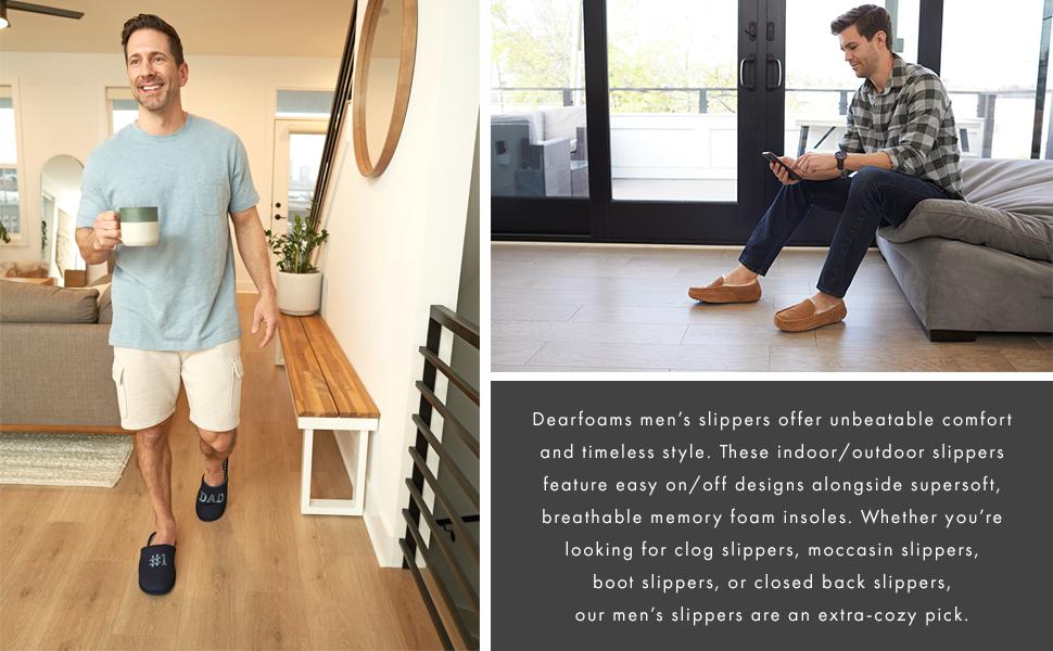 Dearfoam Men's Giftable Slippers