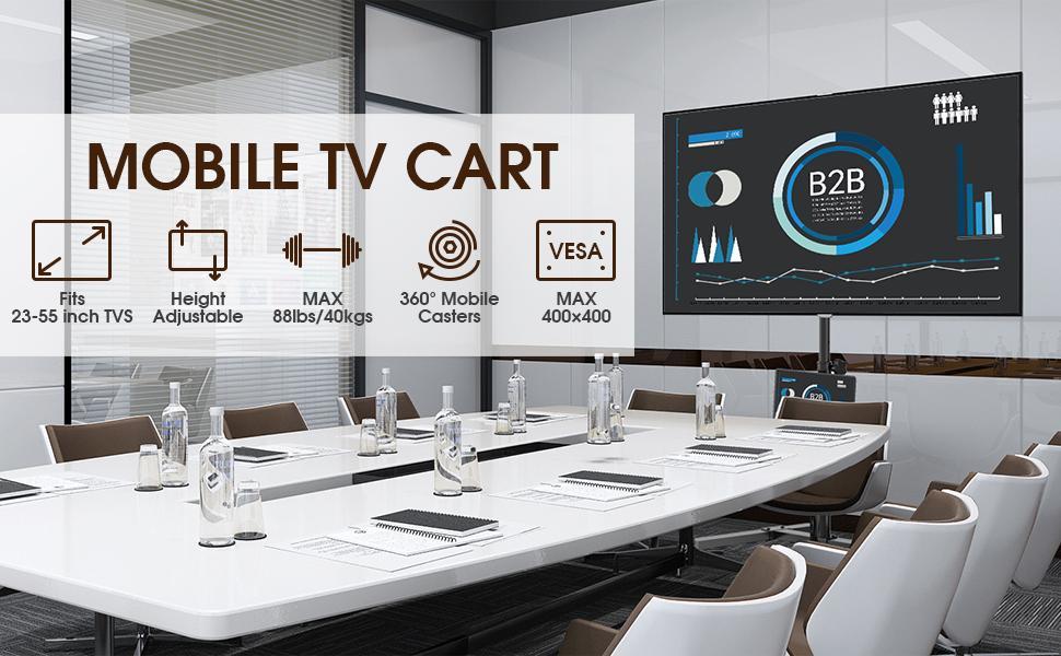 Rolling TV Cart