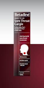 Betadine Sore Throat Ready To Use  Gargle; Betadine solution; Betadine Medicine; Betadine gargle