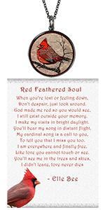 cardinal loss necklace grief gift sympathy memorial bereavement jewelry for women ladies funeral