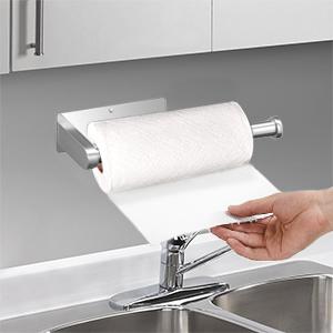 horizontally mount the paper towel shelf