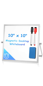 ARCOBIS Small WhiteBoard with Stand 10amp;amp;amp;#34; X 10amp;amp;amp;#34;