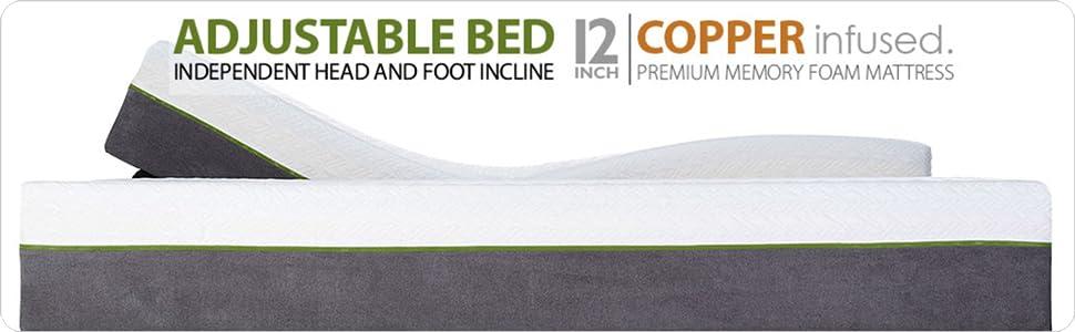 adjustable bed frame and mattress