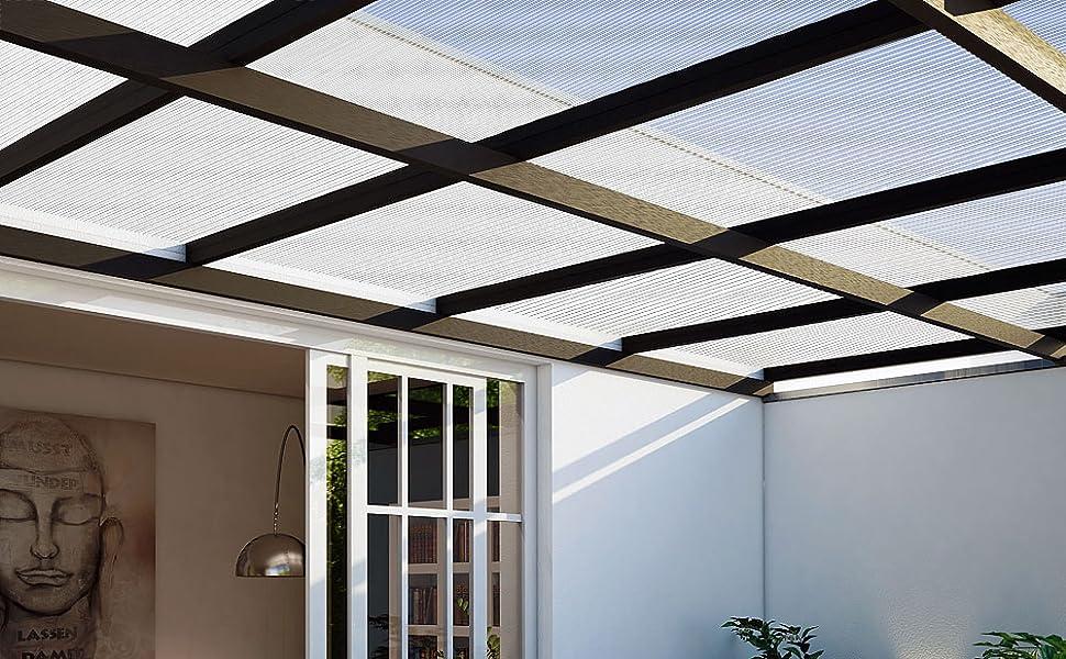 Plaques à double paroi 4mm épaisseur serre plaque de polycarbonate creux bricolage jardin ectérieur