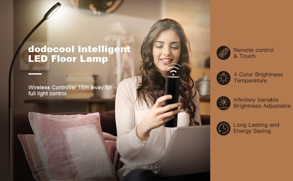 Remote & Touch Control 2500K-6000K LED Floor Lamp