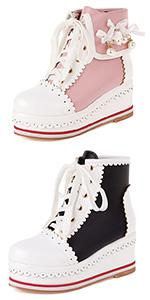 kawaii lolita boots platform boots