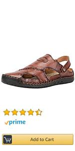 Mens Outdoor Closed Toe Leather Beach Slipper Shoes Adjustable Heel Strap Slip on Sandals