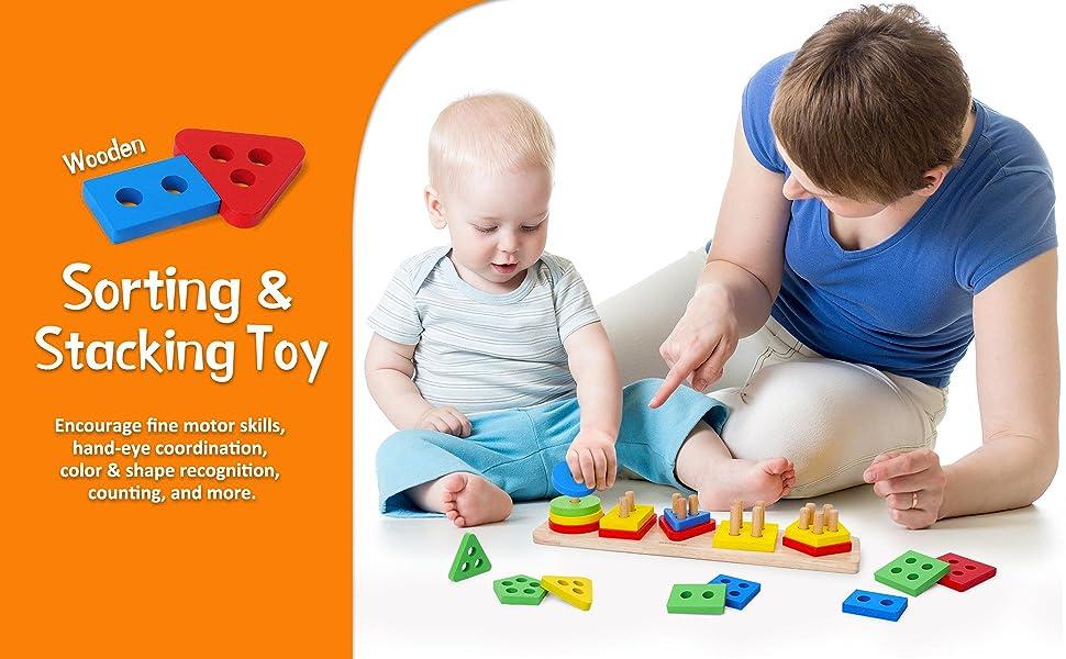 Matching Puzzle Stacker Montessori Geometric Board