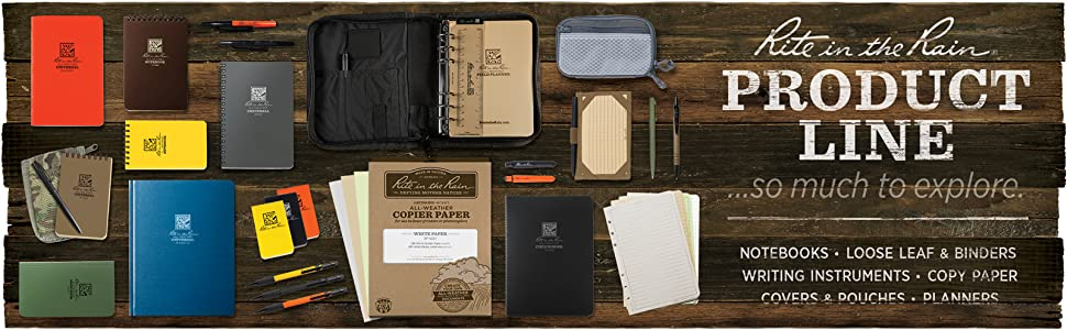 all-weather, notebooks, loose leaf, printer paper, pens, mechanical pencils, calendars, planners
