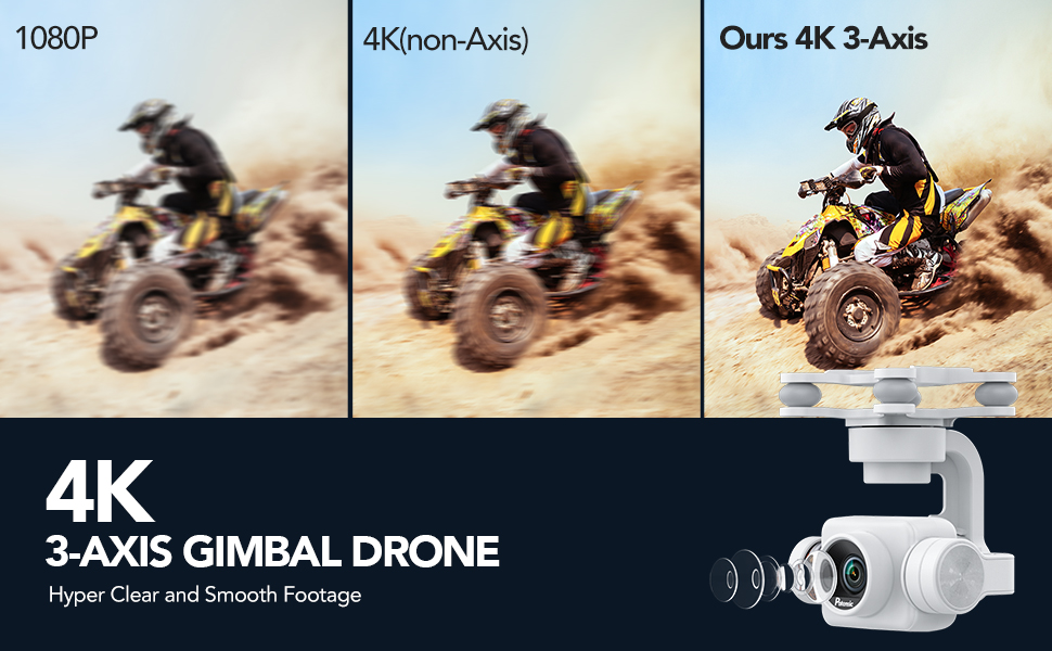 Potensic dreamer pro 4k 3 axis gimbal drone