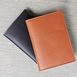leather vaccination passport case