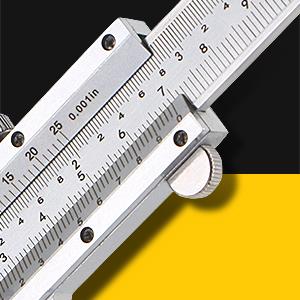 The thumb wheel of vernier caliper is fixed which can not be slide like digital caliper.