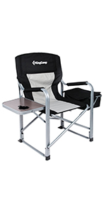 KingCamp Folding Director Chair with Side Table amp; Cooler Bag