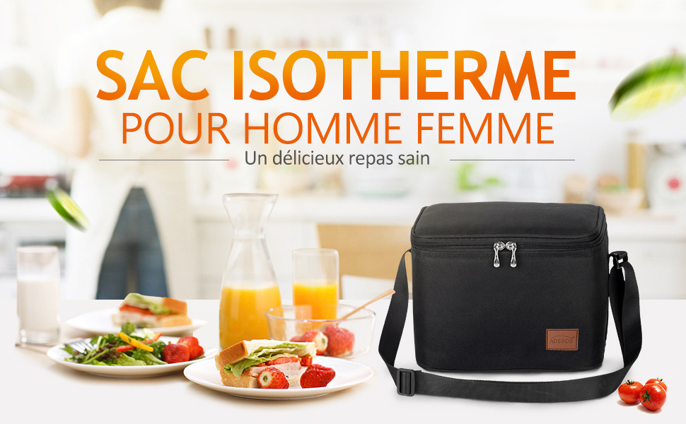 sac isotherme noir