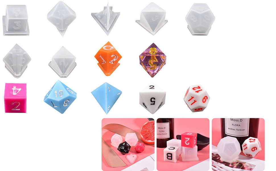 Standard Game Dice Fillet Square Triangle Dice