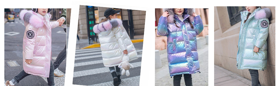 kids girls winter down coat