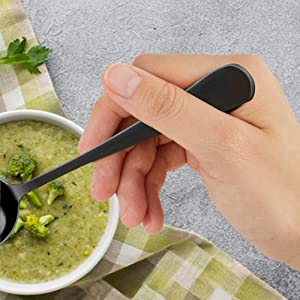 Classic Round design Handle Spoons can be held comfortably in your hand.