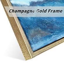 Champagne gold frame details