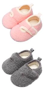 Kids Winter Velcro Slippers