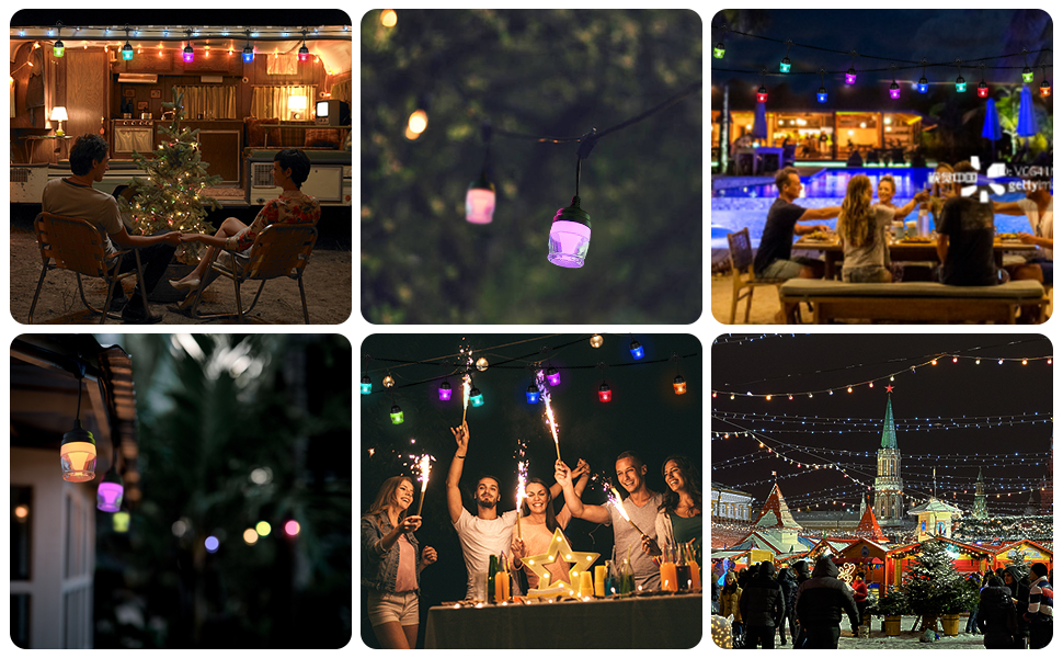 Dimmable LED String Lights for Year-around Use, Ideal Choice for Decoration