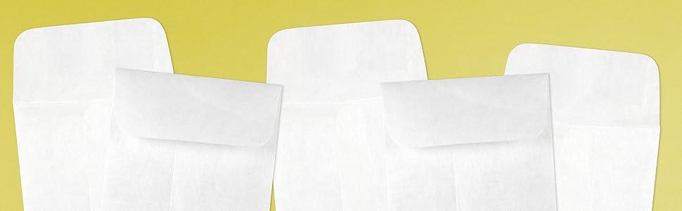 white tyvek #7 coin envelope