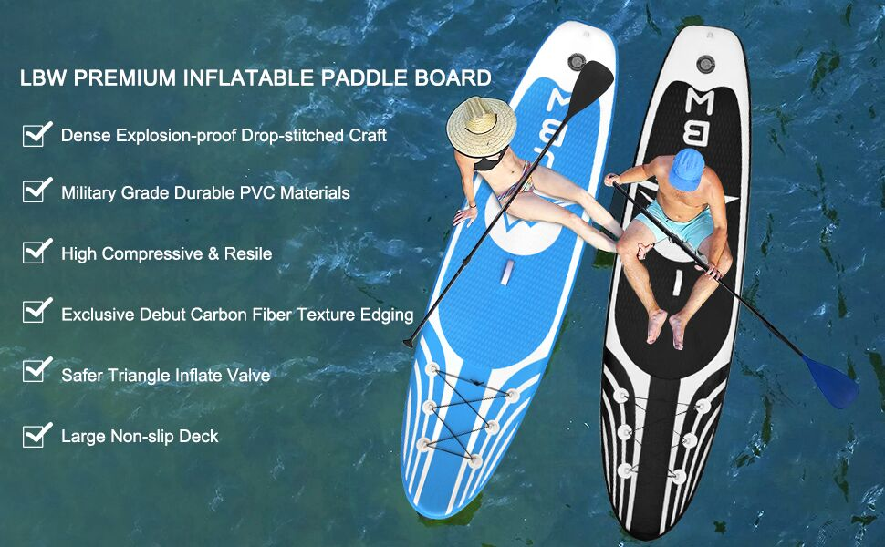 LBW inflatable stand up paddle board