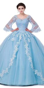Lace Appliques Quinceanera Dresses Ball Gown