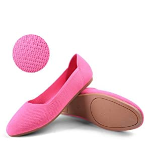 breathable knit flats
