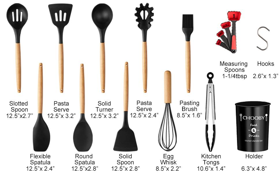 silicone utensils for cooking