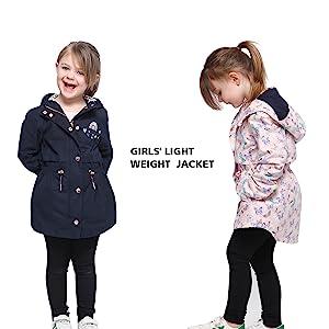 rokka and rolla girls light trench jacket peacoat