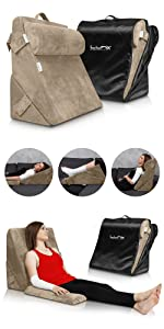 Lunix 3pcs Wedge Pillow Brown