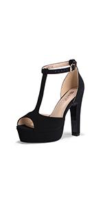 IDIFU Platform T Strap Sandals