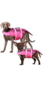dog life jacket dog life vest dog life jacket for small dog life jacket for large dogs pink color