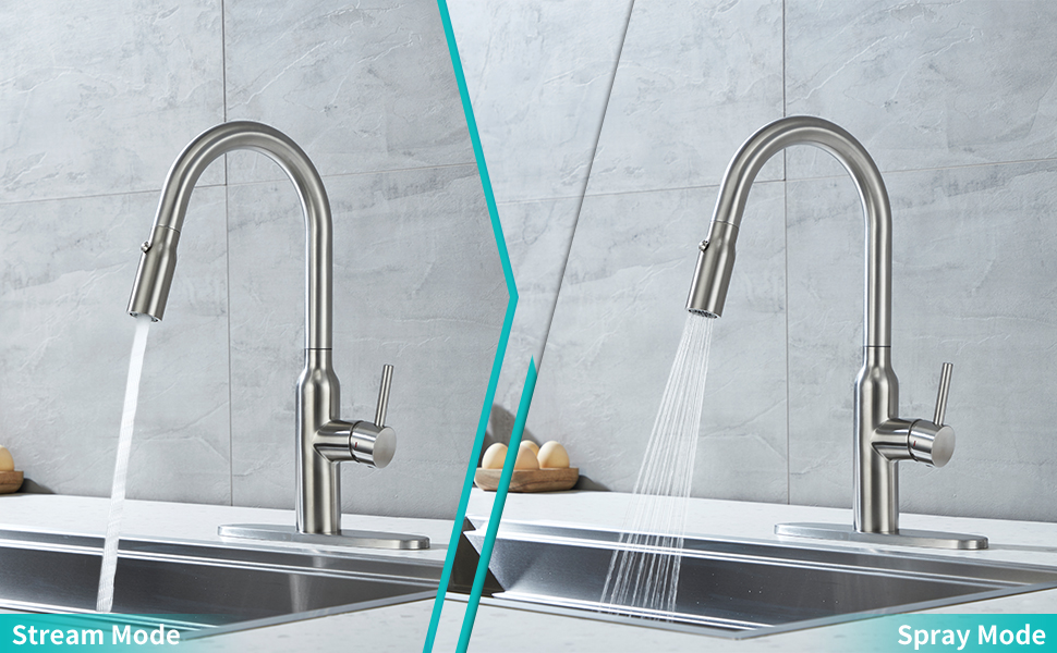 pull down kitchen faucet,brushed nickel kitchen faucet,utility sink faucet,rv sink faucet