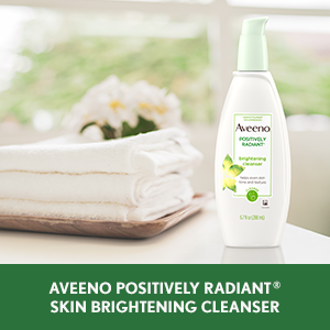 Aveeno Positively Radiant Skin Brightening Facial Cleanser helps improve look of skin tone