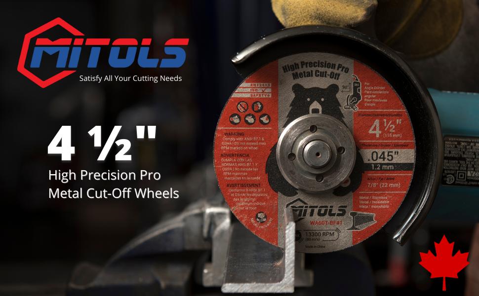 MITOLS 4-1/2 Cut Off Wheel Header