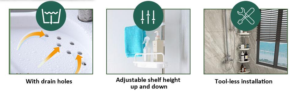 shower caddy pole