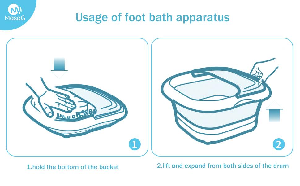 MASAG MS-FT-F10 USAGE OF FOOT BATH APPARATUS