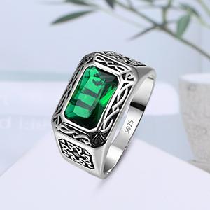 Created emerald ring