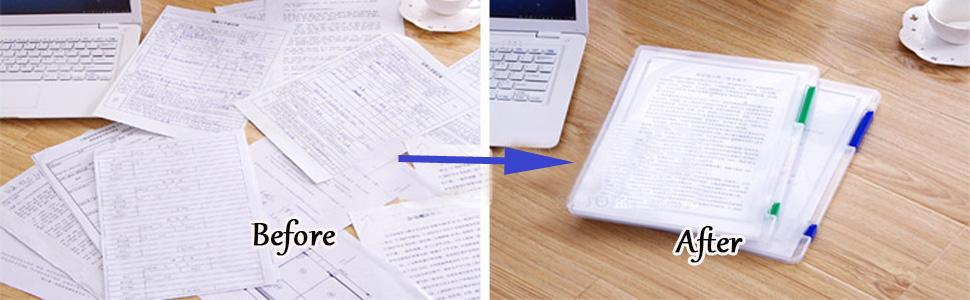transparent file magazine book document organizer holder storage box school office desktop holder