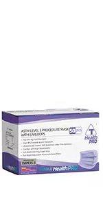 ASTM level 3 PURPLE MEDICAL MASK