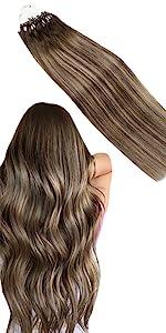 Brown ponytail extension human hair