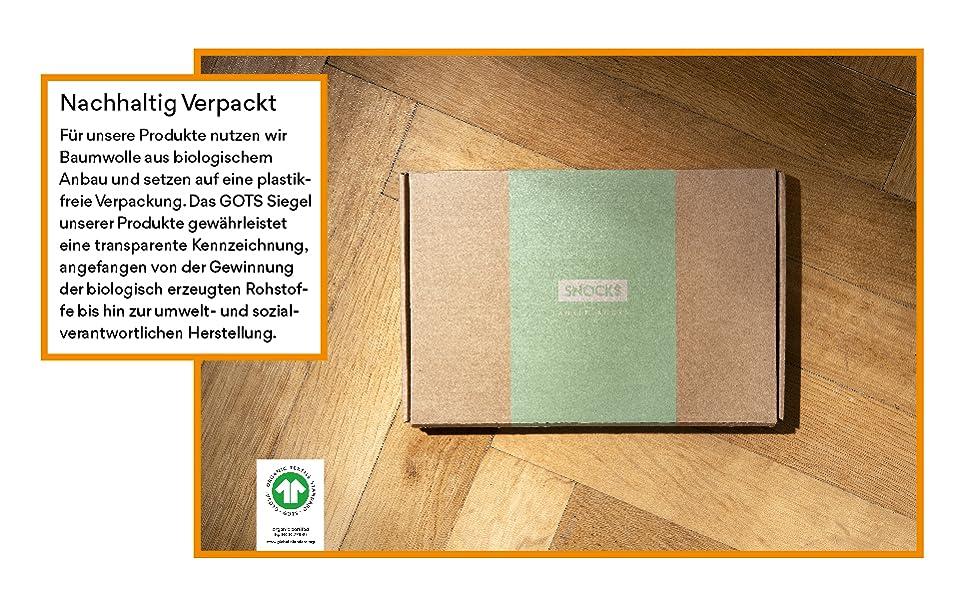Snocks nachhaltige verpackung