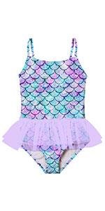 Girls Swimsuits Ruffle Tulle Frill
