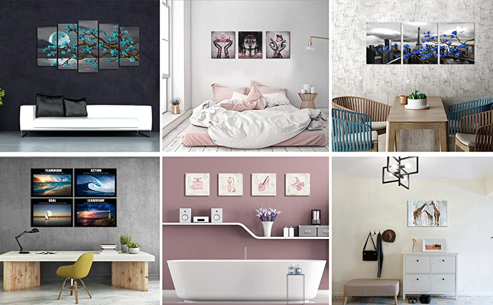picture for bedroom bathroom living room