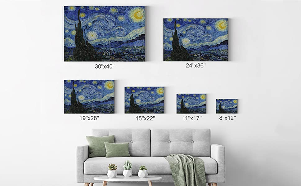 Compare the sizes on the wall Wall Art Home Decor Christmas gift
