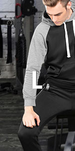 mens sweat suits two piece