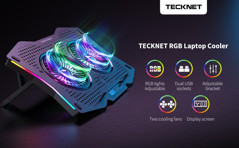 TECKNET RGB Laptop Cooler