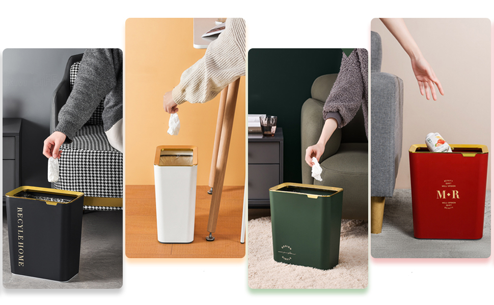 Garbage Container Bin for Bathrooms,